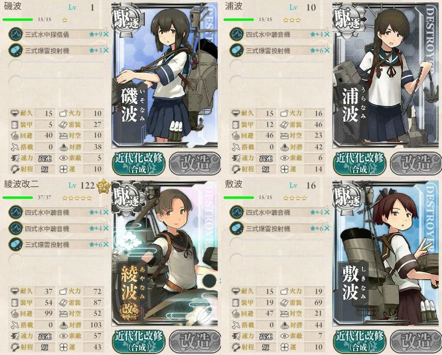 1-5 19駆逐隊 編成