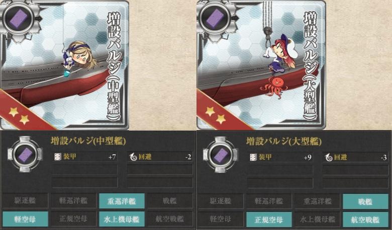 増設バルジ 中型艦 大型艦