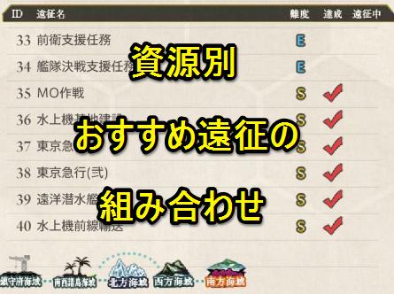 【艦これ】資源別おすすめ遠征の組み合わせ