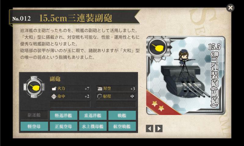15.5㎝三連装副砲