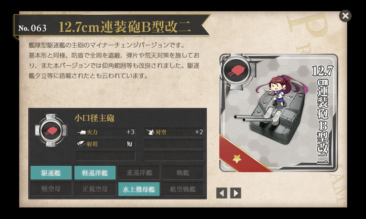 【艦これ】12.7cm連装砲B型改二の入手方法